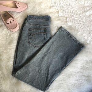 LIKE NEW SONOMA mom blue denim jeans cotton 10 P